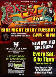 Bike Night Every Tuesday @ Red Tiki Bar | Saint Petersburg | Florida | United States
