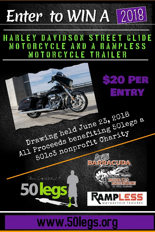 RAFFLE: 2018 Street Glide and Rampless Trailer