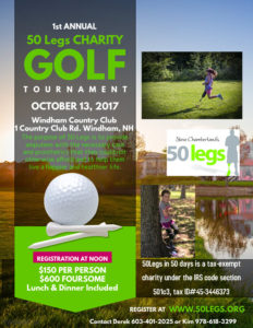 50 Legs Charity Golf Tournament October 13 @ Windham Country Club | Windham | New Hampshire | United States