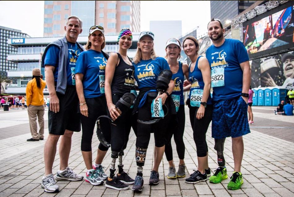 Runners from Team 50 Legs for the Crescent City Classic