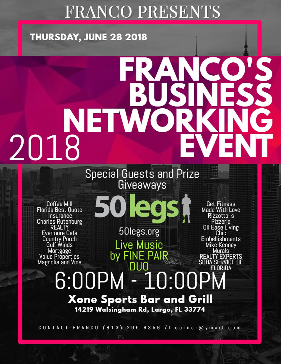 franco's marketing event