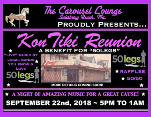 Kontiki Reunion Benefit for 50 Legs @ The Carousel Lounge