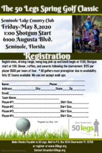 **** POSTPONED **** 50 Legs Spring Golf Classic @ Seminole Lake Country Club