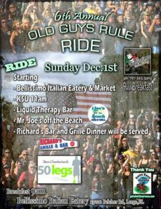 6th Annual Old Guys Rule Ride @ Bellissimo Italian Eatery & Market