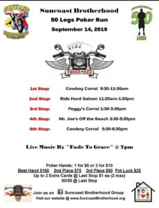 Suncoast Brotherhood 50 Legs Poker Run